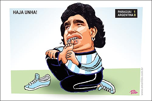 Maradona Roendo Unhas