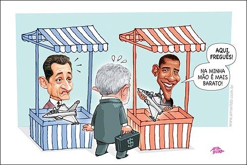 Lula Obama Sarkozy Aviao Feira