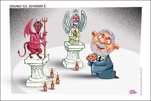 Lula Diabo Deus Vela Reza Joelhos