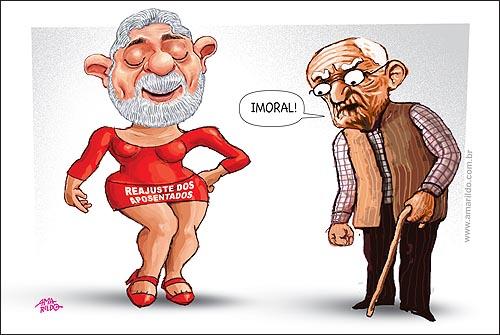 Lula Vestido Vermelho Aposentadoria Reajuste Imoral Aluna