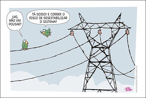 Apagao Fio Torre Passaros Energia Eletricdidade Sistema