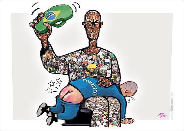 Corrupto apanha de chinelo brasil protestos povo multidao