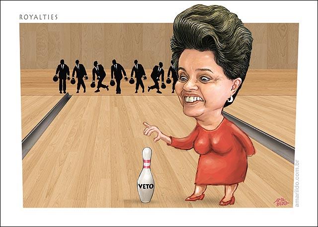 Royalties veto Dilma Boliche