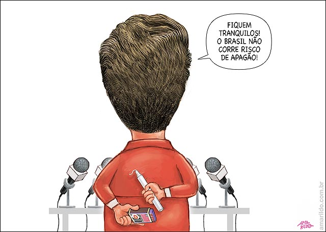 Dilma apagao discurso vela fosforo