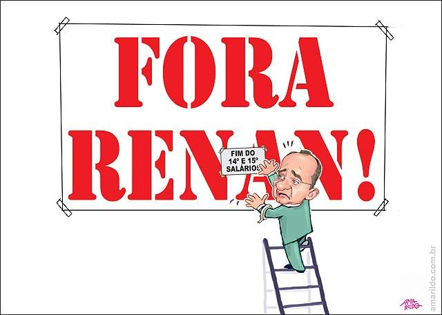 Fora Renan Fim do 13 e 14 salarios escada placa tapa 2