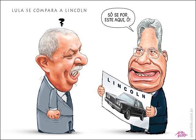 Lula se Compara a Lincoln FHC mostra carro Lincoln