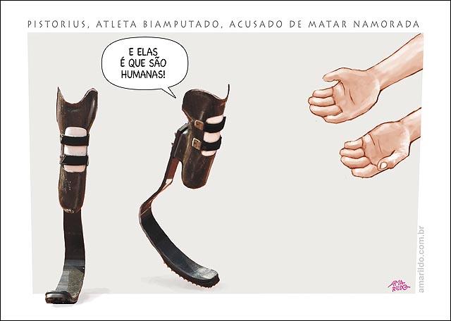 Proteses Pistorius amPutado x maos morte