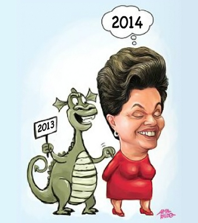 Dilma Candidata 2014 Inflacao 2013