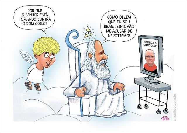 Ceu Deus Brasileiro anjo Conclave Papa Don Odilo Scherer Nepotismo