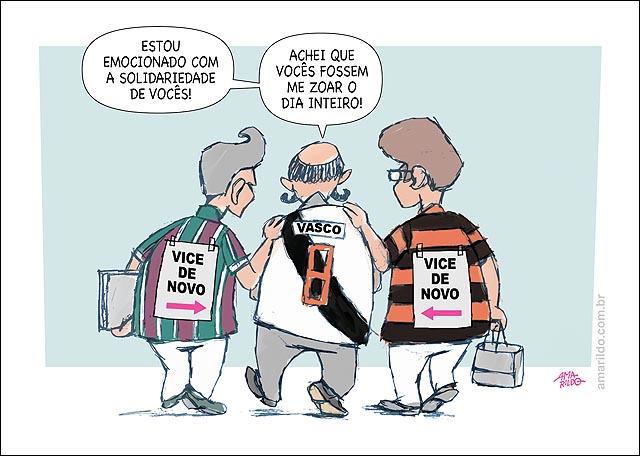Vasco Vice De Novo Flamengo Fluminense abraco papel costas placa