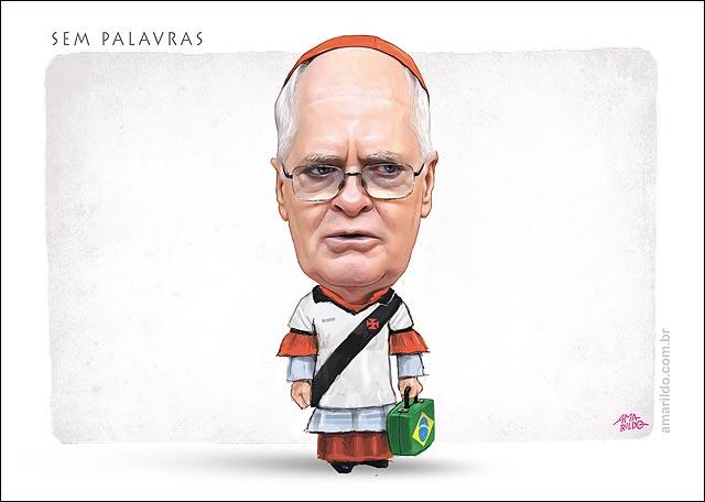Dom Odilio Scherer Camisa Vasco Vice Papa mala 3