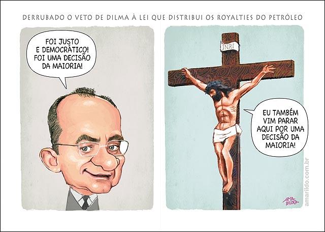 Royalties Renan Democracia Cristo Jesus Crucificado Congresso