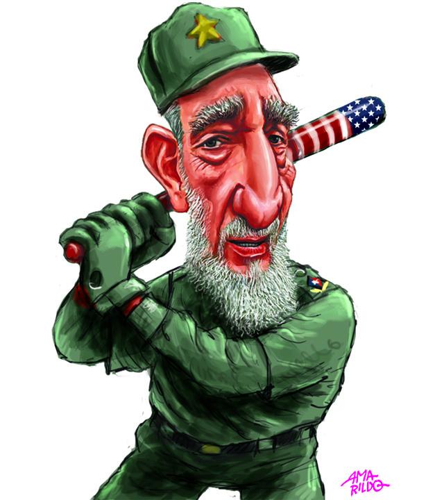 Fidel Castro jogando Baseball taco