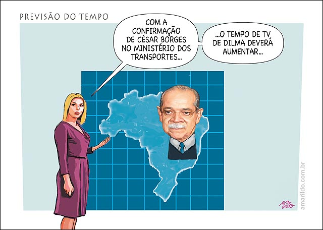 Dilma Cesar borges Ministro Transportes PR Previsao do tempo