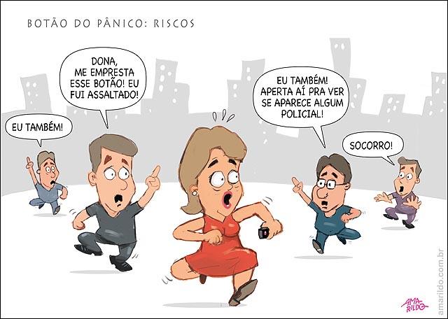 Botao do Panico Riscos mulheres correndo assalto