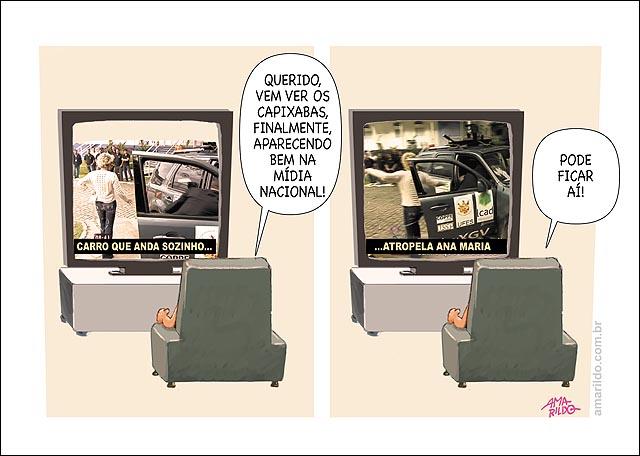 Carro Capixaba Atropela Ana Maria TV noticia boa ES