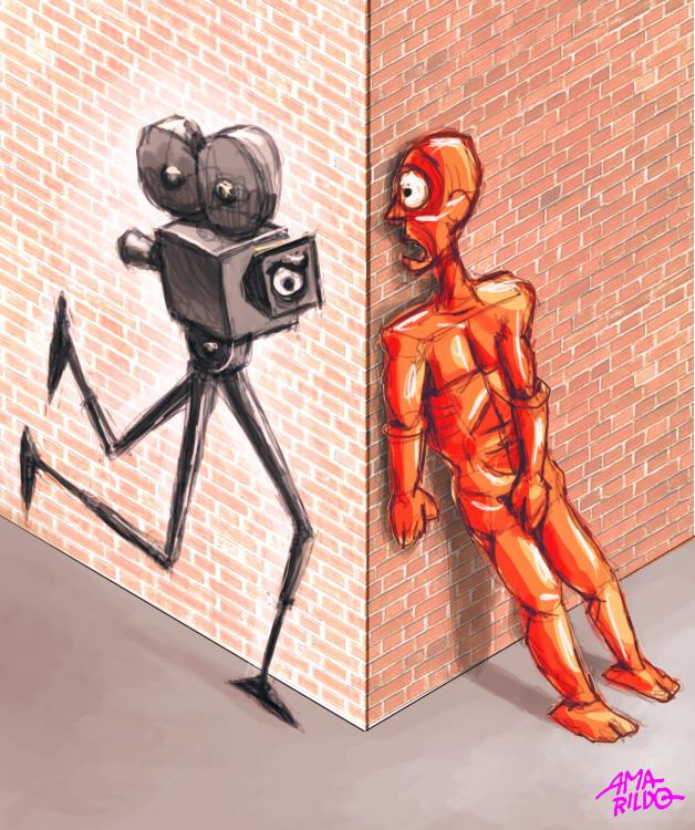 Camera esquina vigia homem medo copy