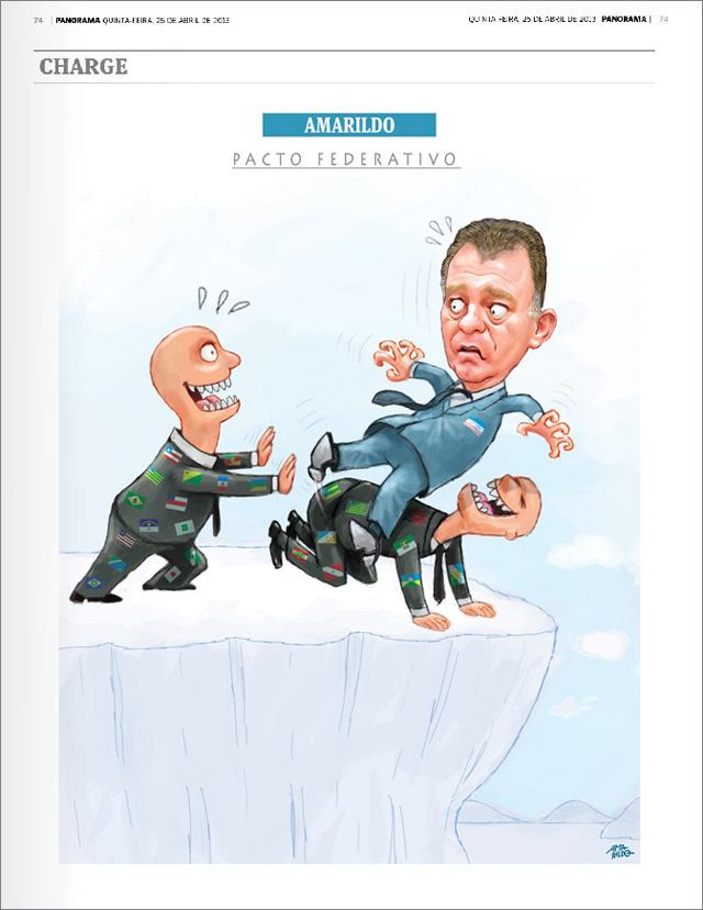 Charge Revista Panorama Pacto federativo