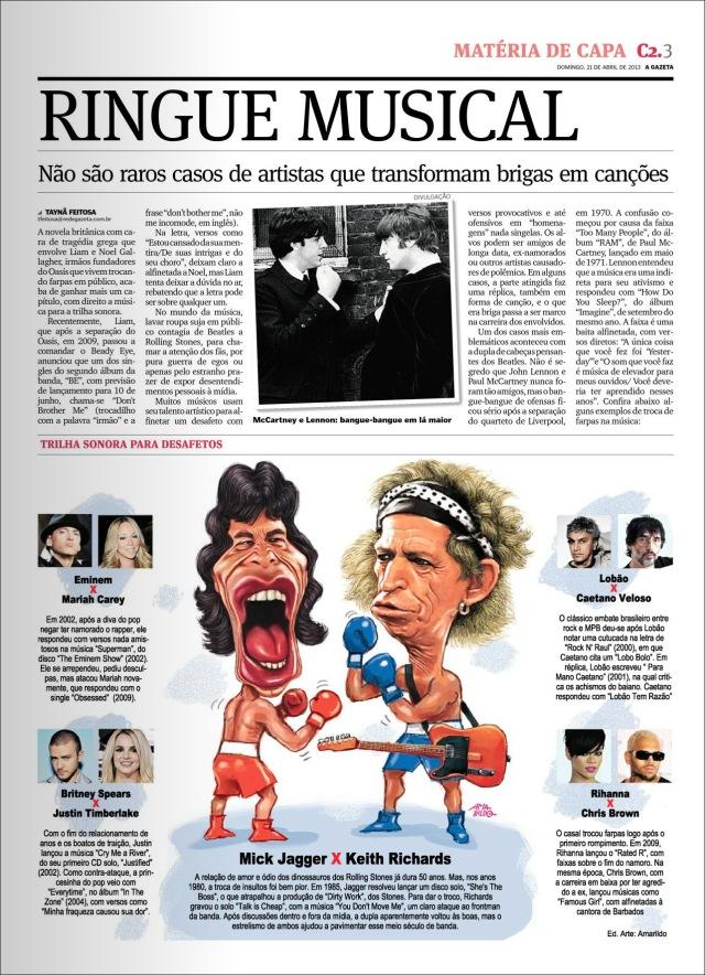 Info Caderno 2 Mick Jagger x Keith Richards