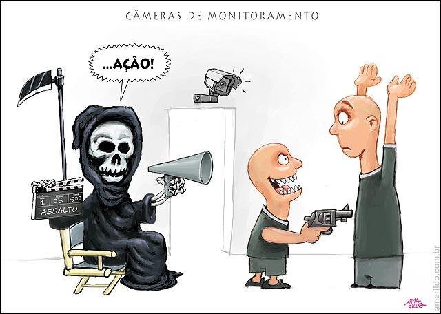 Cameras monitoramento Diretor cinema mortes assaltos es