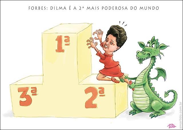 Dilma Forbes segunda mais poderosa dragao inflacao segura pe 2
