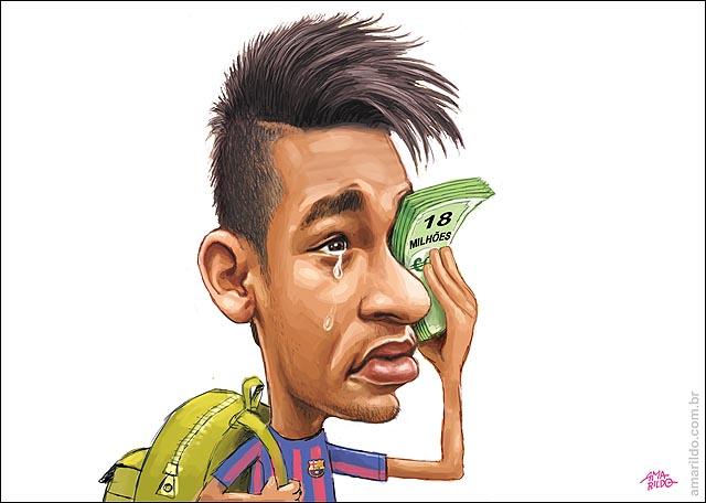 Resultado de imagem para neymar e seu pai charges