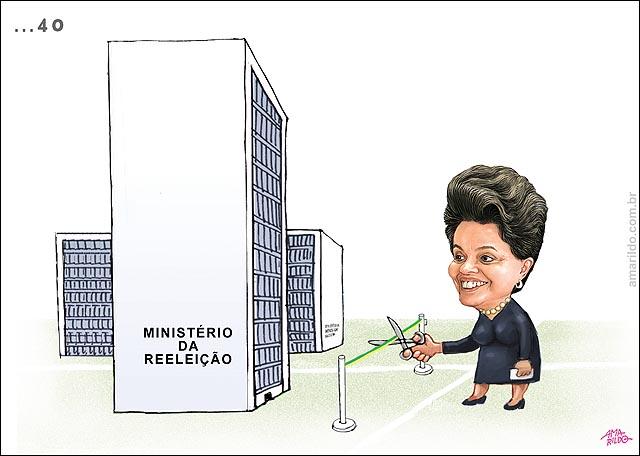 Ministerio da reeleicao Dilma corta faixa inaugurando