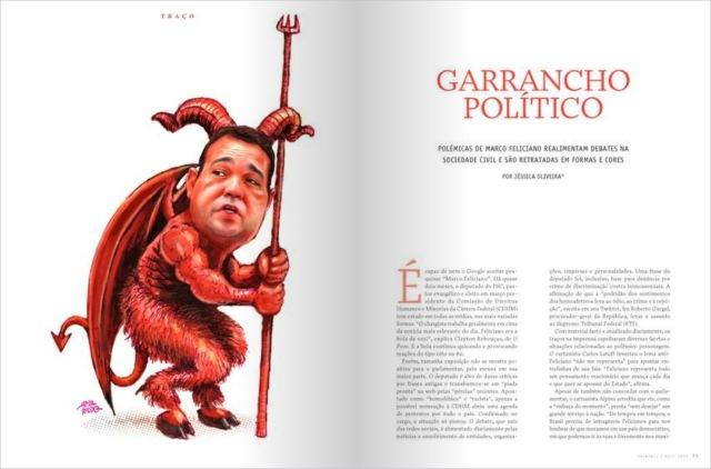 Feliciano Caricatura Revista Imprensa