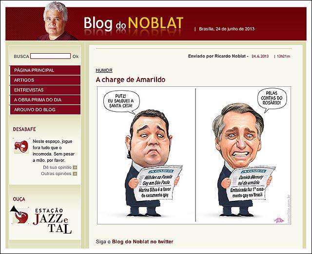 blog noblat Feliciano bolsonaro salguei a sata ceia