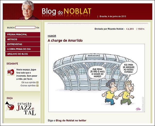 blog noblat maracana nao e o maior futebol
