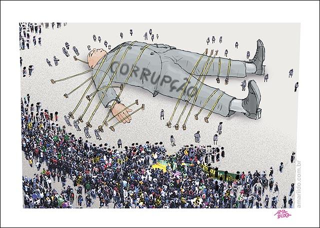 Corrupcao protestos povo gulliver multidao