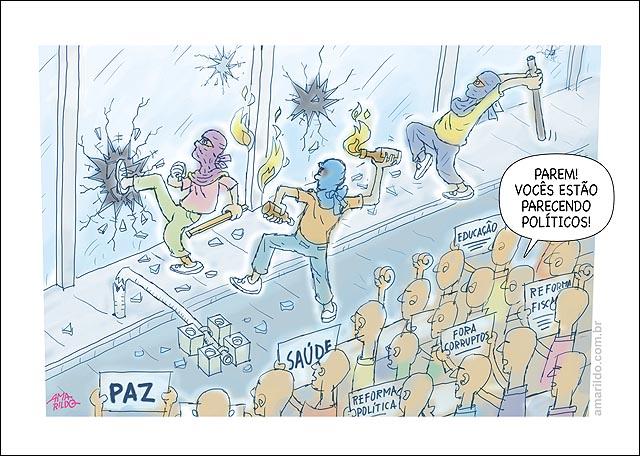 Protestos vandalismo parecem politicos povo multidao.psd