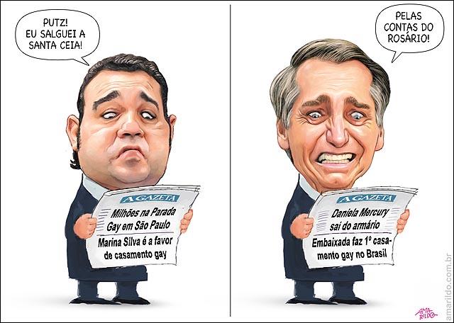 Felicinao Bolsonaro jornal salguei a santa ceia contas do rosario novela