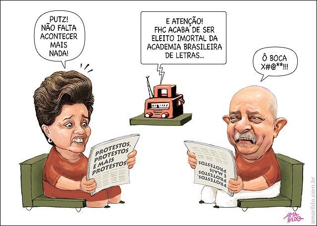 Lula Dilma sofa radio FHC academia de letras