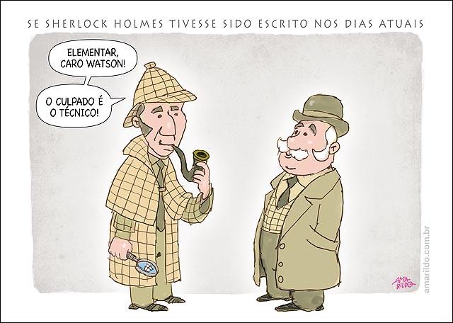 Tecnicos demitidos Sherlock Holmes Elementar Watson