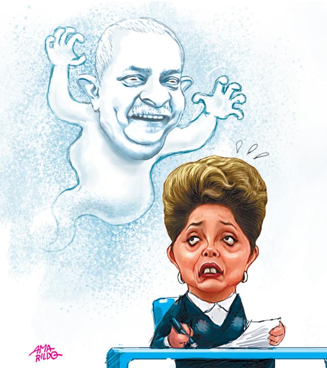 O fantasma de Lula - Ilustração para a Coluna Praça 828062013