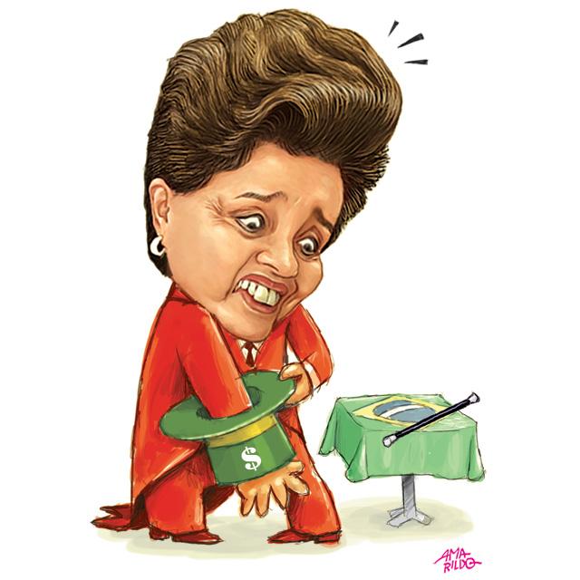 Dilma Magico cartola furada economia