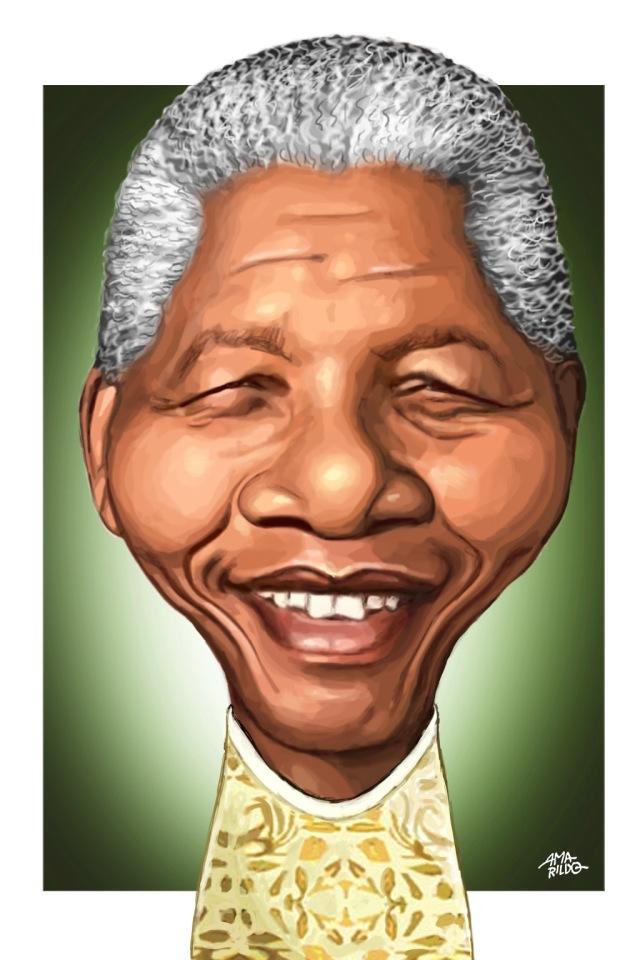 Mandela - Caricatura