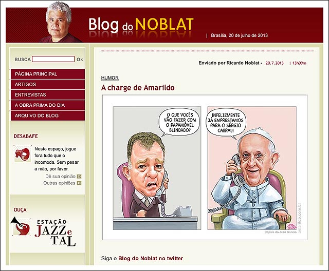 blog noblat Casagrande Papamovel