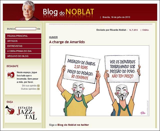 blog noblat protesto deputado trabalhando