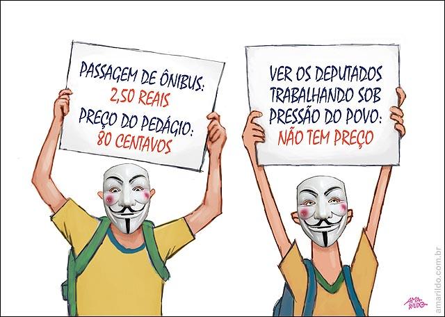 Protestos placas onibus pedagio 080 deputado trabalhando nao tem preco