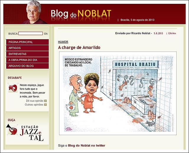 blog noblat Dima hospital braziu