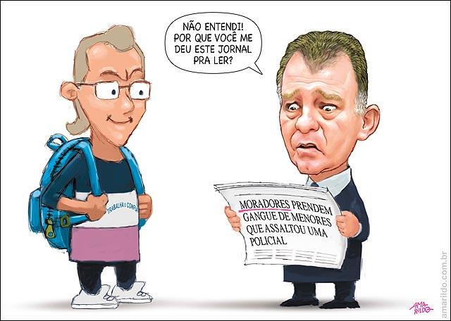 Casagrande Jornal moradorem prendem bandido mascara protestos