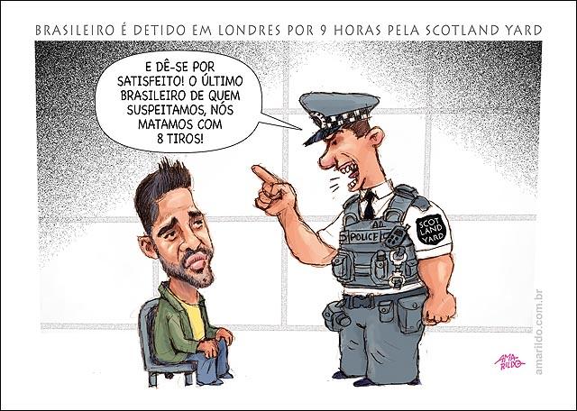 Brasileiro Preso Londres Scotland Yard Espionagem morte Jean Charles