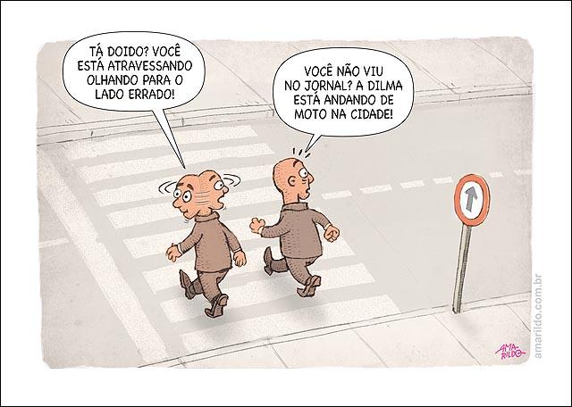 Dima de moto em brasilia homem atravessa rua andando de costas