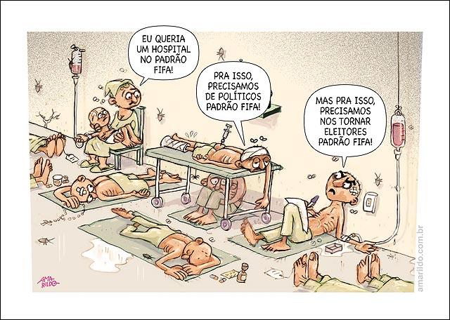 Corredor hospital Padrao fifa Politico eleitor