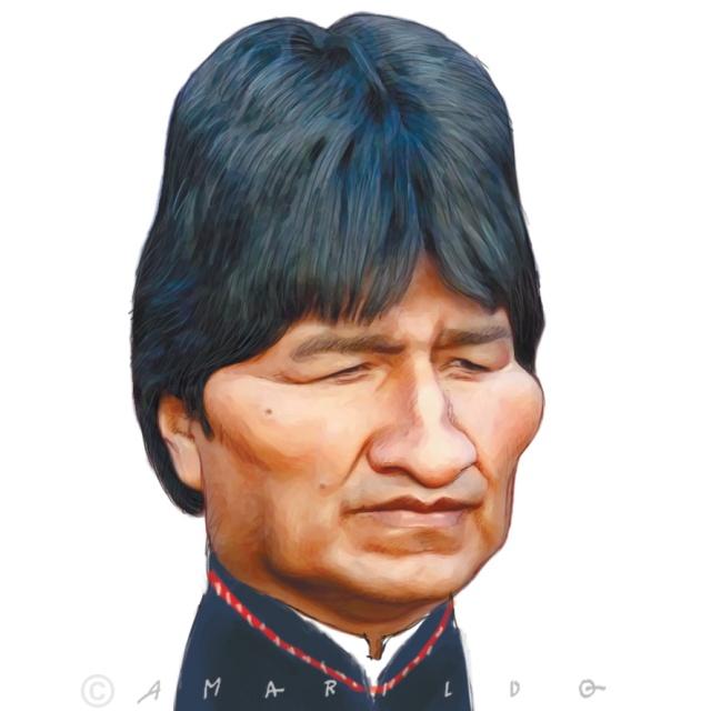 Evo Morales - Caricatura