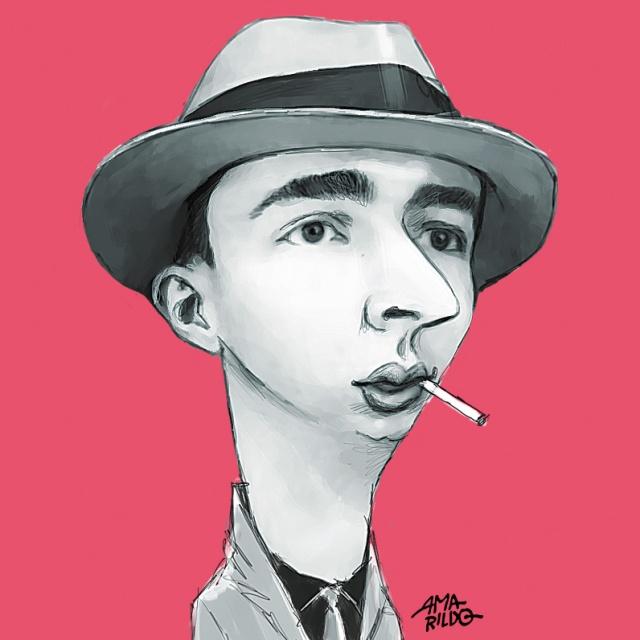 Noel Rosa Caricatura fumando blog