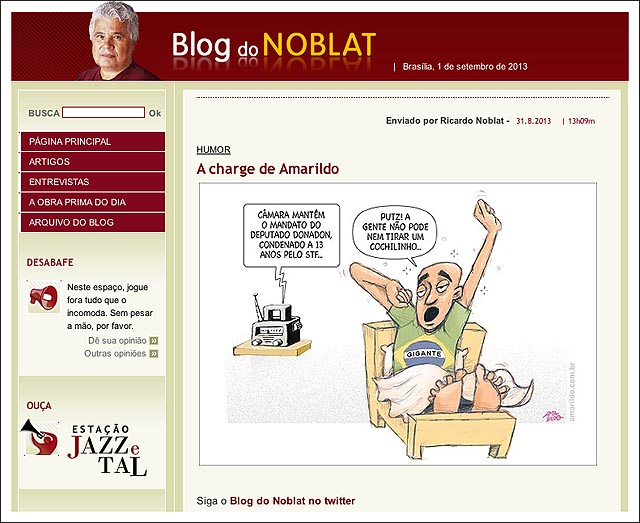 Nossa charge emA Gazeta noBlog do Noblat