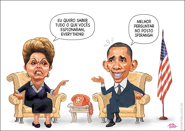 Obama Dilma Petrobras Espionagem Sofa posto Ipiranga C